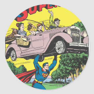Superman #19 classic round sticker