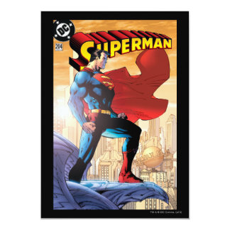 Superman #204 June 04 13 Cm X 18 Cm Invitation Card