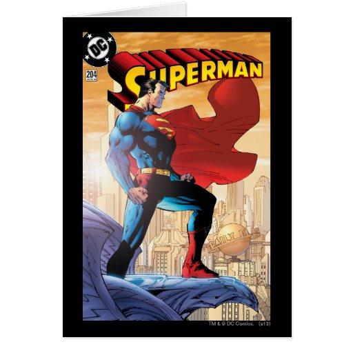 Superman #204 June 04 Greeting Cards