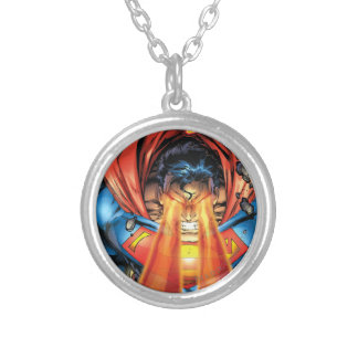 Superman #218 Aug 05 Silver Plated Necklace