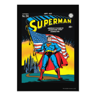 Superman #24 13 cm x 18 cm invitation card