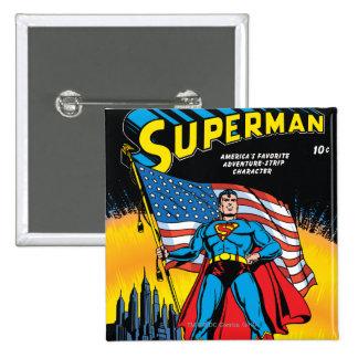 Superman #24 15 cm square badge