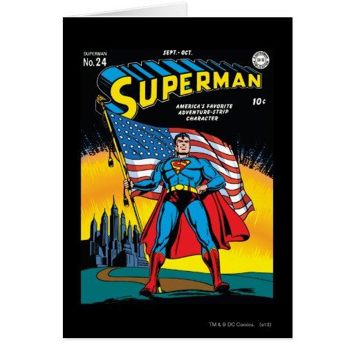 Superman #24 greeting card