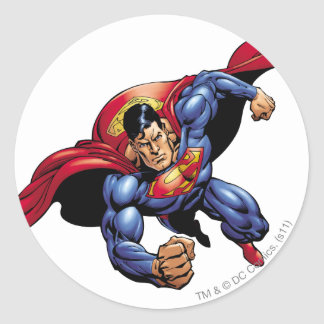 Superman 31 classic round sticker