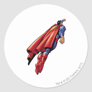 Superman 36 classic round sticker
