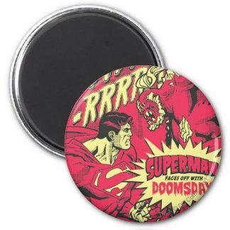 Superman 38 6 cm round magnet