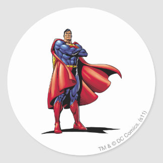 Superman 3 classic round sticker