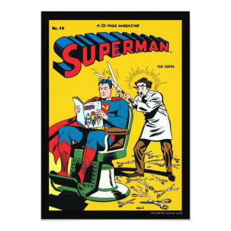 Superman #52 13 cm x 18 cm invitation card