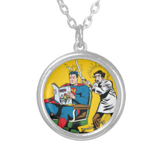 Superman #52 silver plated necklace
