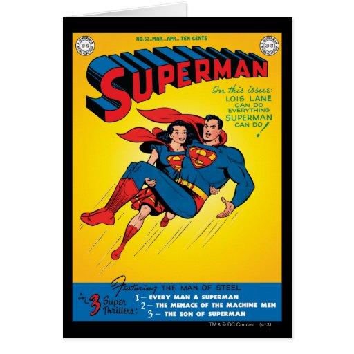Superman #57 greeting cards