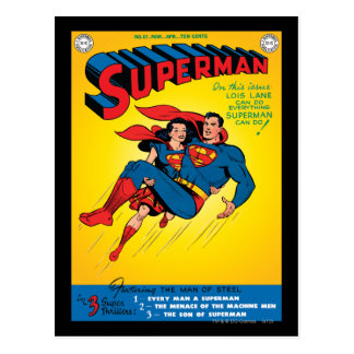 Superman #57 postcard