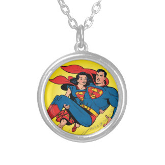 Superman #57 silver plated necklace