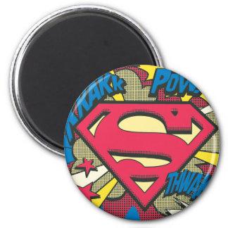 Superman 66 6 cm round magnet