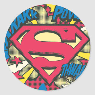 Superman 66 classic round sticker