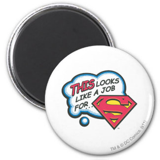 Superman 74 6 cm round magnet