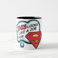Superman 74 Two-Tone coffee mug