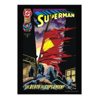 Superman #75 1993 personalized invites
