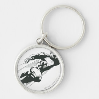Superman 7 Silver-Colored round key ring