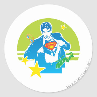 Superman 80 s Style Stickers