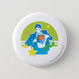 Superman 80's Style 6 Cm Round Badge