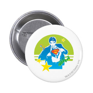 Superman 80's Style 6 Cm Round Badge
