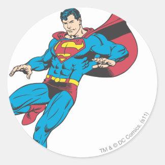 Superman 85 classic round sticker