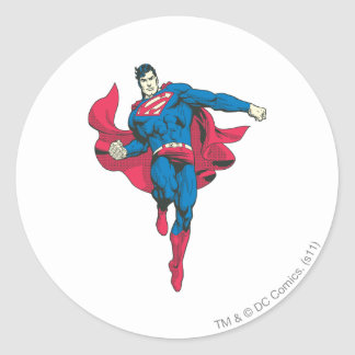 Superman 89 classic round sticker