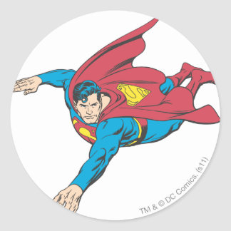 Superman 90 classic round sticker