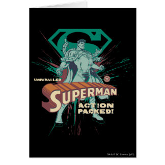 Superman action packed card
