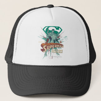 Superman action packed trucker hat