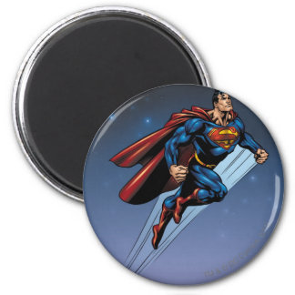 Superman against the night sky magnet
