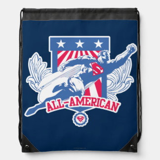 Superman All-American Drawstring Bag