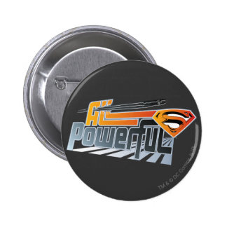 Superman All Powerful 6 Cm Round Badge