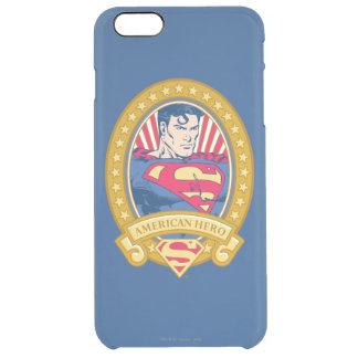 Superman American Hero Clear iPhone 6 Plus Case