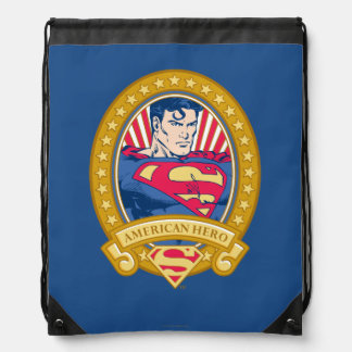 Superman American Hero Drawstring Bag