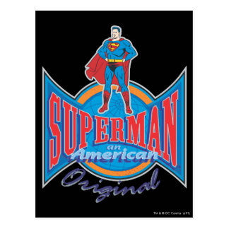 Superman American Original Postcard