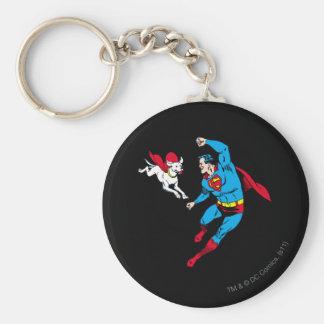 Superman and Krypto 2 Key Ring