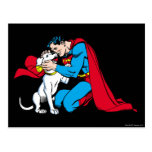 Superman and Krypto Postcard