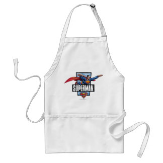Superman and Logo Bordered Apron