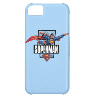Superman and Logo Bordered iPhone 5C Case