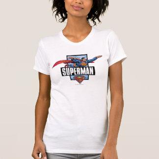 Superman and Logo Bordered Shirt
