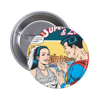 Superman and Lois Comic Pinback Buttons