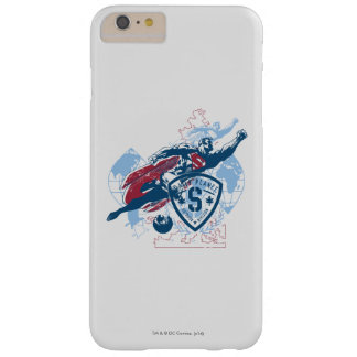 Superman and Map Barely There iPhone 6 Plus Case