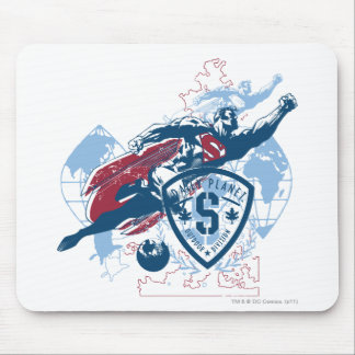 Superman and Map Mouse Pad