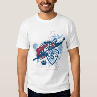 Superman and Map Tshirt