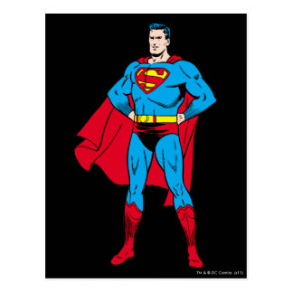 Superman Arms Folded Postcard