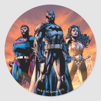 Superman, Batman, & Wonder Woman Trinity Classic Round Sticker