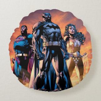 Superman, Batman, & Wonder Woman Trinity Round Cushion