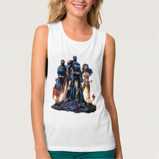 Superman, Batman, & Wonder Woman Trinity Tank Top