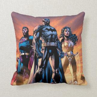 Superman, Batman, & Wonder Woman Trinity Throw Pillow